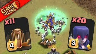 "getlinkyoutube.com-Clash of Clans: ""MASS ATTACK!"" WITCHES & QUAKE SPELLS TAKE DOWN BIG BASES..."