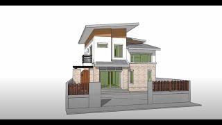 getlinkyoutube.com-Tutorial Sketchup 2016 create modern house model