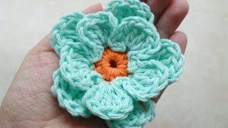 getlinkyoutube.com-CROCHET How to #Crochet Easy Flower #TUTORIAL #217