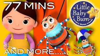 Little Miss Muffet   Plus Lots More Nursery Rhymes   77 Minutes Compilation from LittleBabyBum!
