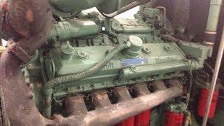 getlinkyoutube.com-V12 Detroit diesel 12v92 twin turbo cold start