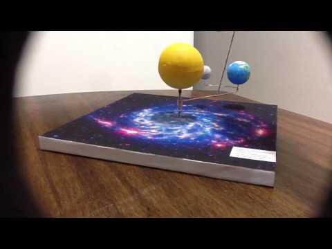 Maqueta sistema Sol, Tierra, Luna.