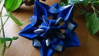 getlinkyoutube.com-Origami ᘠ♥ᘡ Xenia ᘠ♥ᘡ Kusudama