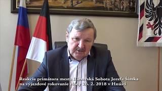 Reakcia prim.mesta Rimavská Sobota na tlač. správu Hňúšťa 2018