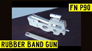 getlinkyoutube.com-How to make MEGA EASY!!!  FN P90 [rubber band gun] Wood Free template tutorial