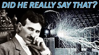 Nikola Tesla Greatest Secret EXPOSED - The One Thing He Said That NOBODY Mentions