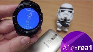 getlinkyoutube.com-К18 3G лучшие китайские Android смарт часы c Amoled дисплеем SmartWatch