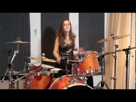 Hot female drummer! So You Say Drum cover by Domino   Hit Like A Girl Contest
