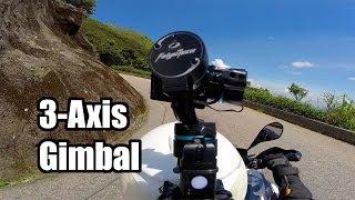 getlinkyoutube.com-Feiyu G3 Ultra 3-Axis Handheld Gimbal on Motorcycle - HeliPal.com