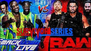 WWE Survivor Series 19 November 2017   The Shield Vs The New Day Full Match