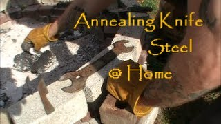 getlinkyoutube.com-Annealing Knife Steel at Home