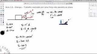 getlinkyoutube.com-Aula 2.6 - Energia - Trabalho de uma força não paralela ao plano [HD]