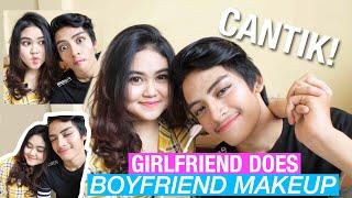 COWOK KU JADI CANTIK BANGET! (Girlfriend Does Boyfriend Makeup)