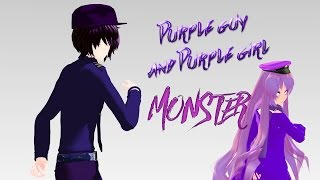 getlinkyoutube.com-Monster MMD FNAF Purple guy,girl