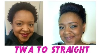From COILY to STRAIGHT! Straightening my Short NATURAL HAIR (8 months natural) ft. Curly by Nature