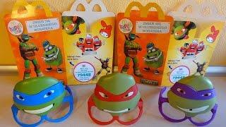 getlinkyoutube.com-2015 TMNT Mask Complete Set in Happy Meal McDonalds Europe Unboxing
