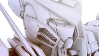 getlinkyoutube.com-CINEMA 4D High Detail Model - Mobile Suit Gundam EXIA GN 001