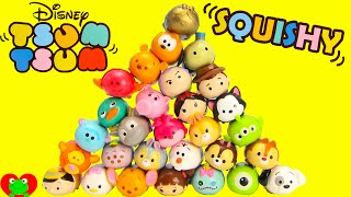 getlinkyoutube.com-Disney Tsum Tsum Squishy Figure 5 Packs with Surprise