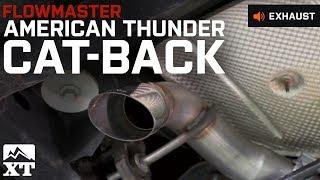 getlinkyoutube.com-2007-2016 Wrangler Flowmaster Exhaust Sound Clip American Thunder Catback (JK) Review & Install