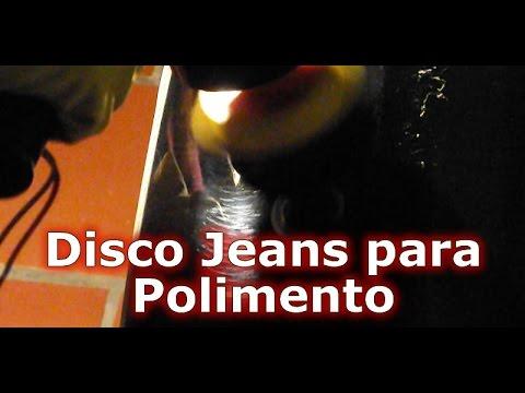 Polimento com Roto Orbital Lixa P2500 Disco Jeans Interface Hookit e Massa de Polir