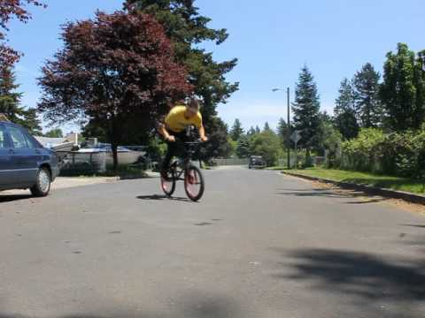 Slow Motion Bunny Hop Barspin Flat - Bmx
