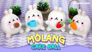 getlinkyoutube.com-몰랑몰랑 몰랑이 케익볼 만들기! How to Make Molang Cake Balls! - Ari Kitchen