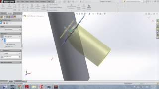 getlinkyoutube.com-Development Junction flat pattern in Solidworks Sheet Metal