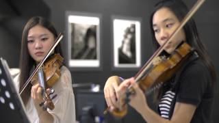 getlinkyoutube.com-Canon in D violin duet