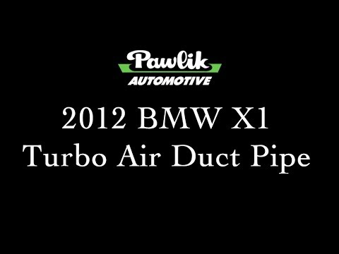 2012 BMW X1, Turbo Air Duct Pipe