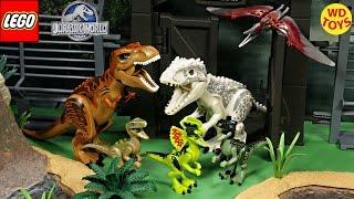 New Lego Jurassic World Dinosaurs Complete set / Indominus Rex, TREX, Dilophosaurus, Velociraptors