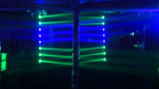 getlinkyoutube.com-ADJ Sweeper Beam Quad LED - Vertical Speaker Stand Mount