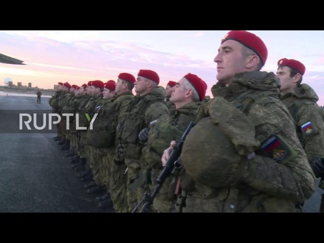 Russische Militärpolizei trifft in Syrien ein