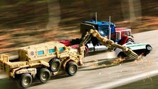 getlinkyoutube.com-Transformers Movie 1 Optimus Prime VS Bonecrusher Truck Vehicle Transformation Robot Car Toys