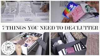 getlinkyoutube.com-7 THINGS YOU NEED TO DE-CLUTTER! | NEW YEAR ORGANIZATION TIPS