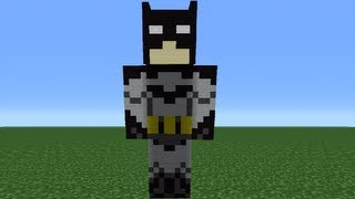 getlinkyoutube.com-Minecraft 360: How To Make A Batman Statue