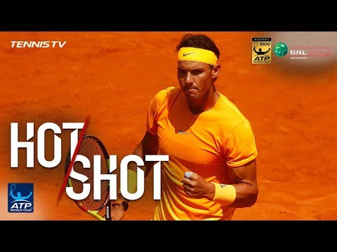 Hot Shot: Nadal Never Gives Up For Backhand Winner