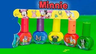 getlinkyoutube.com-MINNIE MOUSE Disney Minnie Mouse Nail Polish Set a Minnie Mouse Video Toy Review