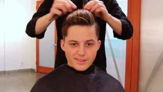 getlinkyoutube.com-Men's Haircut Tutorial   1920s Inspired Haircut & 3-in-1 Hairstyle Out (Full Length)