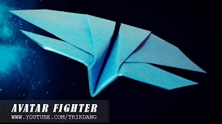 getlinkyoutube.com-Best Paper Planes: How to make a paper airplane that Flies | Avatar Fighter