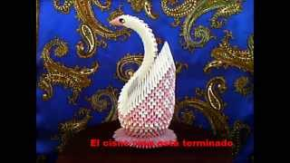 getlinkyoutube.com-origami 3D  cisne rosa