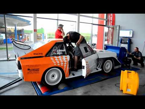 Audi S1 2.2 I5 DOHC 20v Turbo 572Hp 615Nm on dyno Profituning