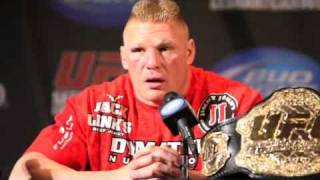 getlinkyoutube.com-Brock Lesnar UFC 116 Post-Fight Comments, Thanks Ref For Not Stopping It - MMA Weekly News