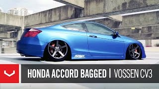 "getlinkyoutube.com-Honda Accord Bagged on 20"" Vossen VVS-CV3 Concave Wheels 