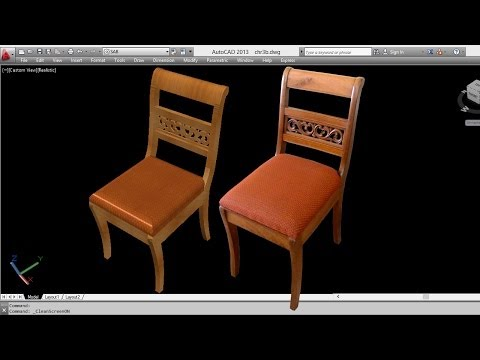 AUTOCAD 3D CHAIR | 3D CHAIR