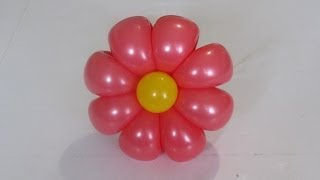 getlinkyoutube.com-ромашка 8 лепестков из шаров / 8-petals flower balloon (Subtitles)