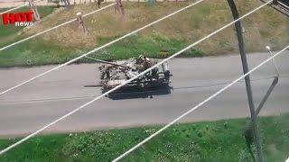 getlinkyoutube.com-Артёмовск: движется огромная колонна Украинской армии 20.07.2014
