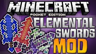 getlinkyoutube.com-SUPER POWERED SWORDS!!! - Elemental Swords Mod for MCPE - Minecraft PE (Pocket Edition)