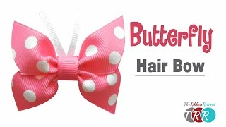How to Make a Butterfly Hair Bow - TheRibbonRetreat.com