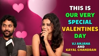 getlinkyoutube.com-This is our Very Special Valentines Day | VJ Anjana and Kayal Chandran | Valentine's Day Interview