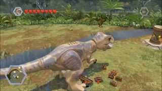 getlinkyoutube.com-LEGO Jurassic World - All Playable Large Dinosaurs Free Roam Gameplay [HD]